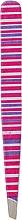 Духи, Парфюмерия, косметика Пинцет скошенный, 02-0030, малиново-белый - DUP