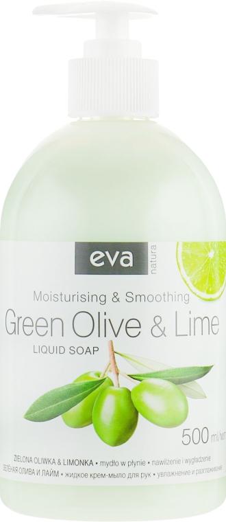 """Жидкое крем-мыло для рук """"Олива и лайм"""" - Eva Natura — фото N1"""