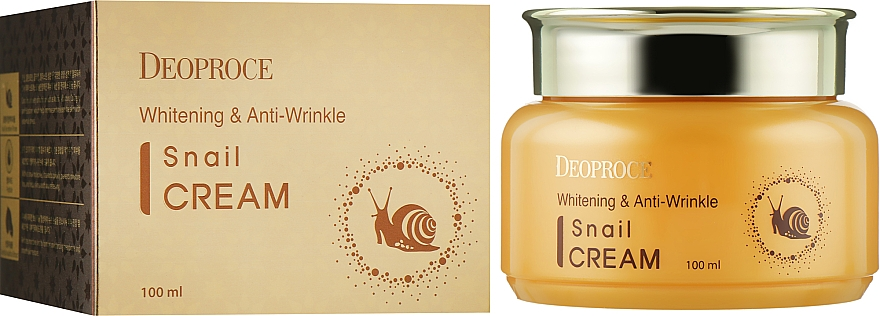 Антивозрастной крем для лица с муцином улитки - Deoproce Whitening & Anti-Wrinkle Snail Cream