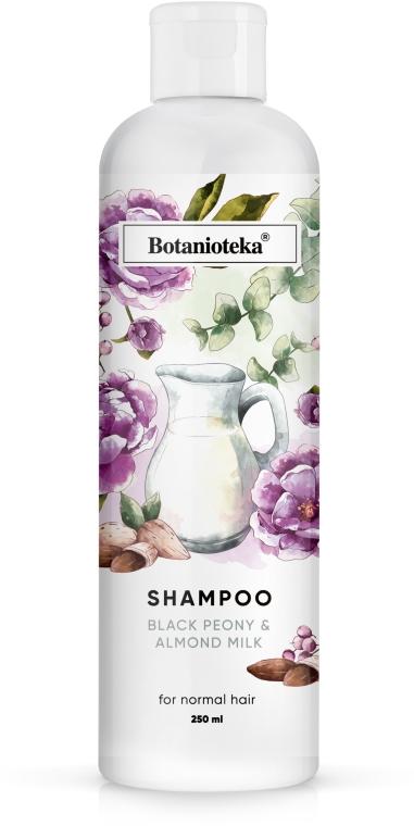 """Шампунь для нормальных волос """"Черный пион и миндальное молочко"""" - Botanioteka Shampoo For Normal Hair"""