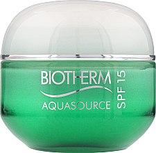 Духи, Парфюмерия, косметика Крем для лица для нормальной и комбинированной кожи - Biotherm Aquasource SPF 15
