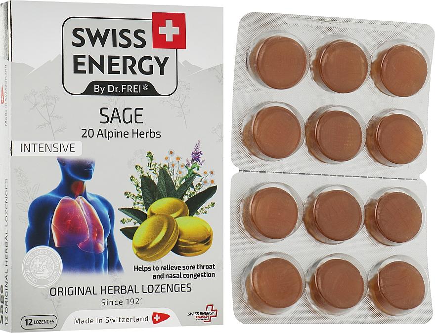 "Леденцы ""Шалфей"" на основе натуральных трав - Swiss Energy Original Herbal Lozenges"