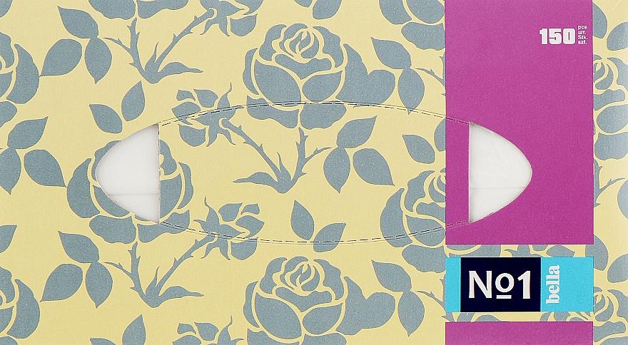 Салфетки универсальные двухслойные 150шт, роза - Bella
