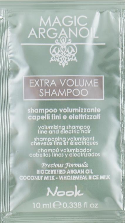 Шампунь для объема тонких и ослабленных волос - Nook Magic Arganoil Extra Volume Shampoo (пробник)