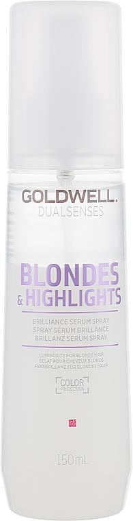 Сыворотка-спрей для блеска осветленных волос - Goldwell Dualsenses Blondes&Highlights Serum Spray