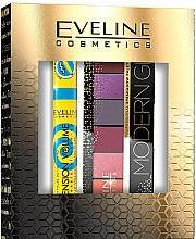 Духи, Парфюмерия, косметика Набор - Eveline Cosmetics Modern Glam Push Up (masc/10ml + eye/pal/9.6g)