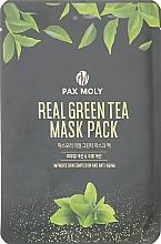 Духи, Парфюмерия, косметика Маска тканевая с экстрактом зеленого чая - Pax Moly Real Green Tea Mask Pack