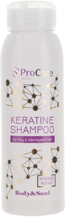 Шампунь с кератином для сухих и поврежденных волос - Body&Soul ProCare Keratin Shampoo