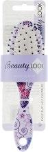 Духи, Парфюмерия, косметика Щетка для волос, 400445, бело-фиолетовая - Beauty Look