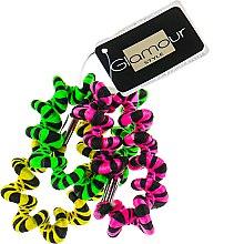 Духи, Парфюмерия, косметика Резинки для волос, 414420, салатовый + розовый + желтый - Glamour