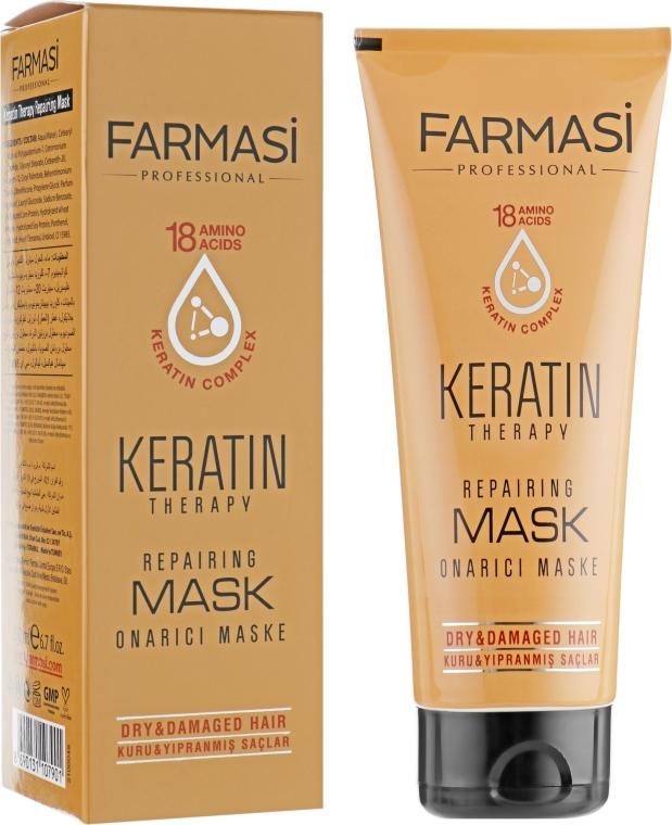 Маска для волос с кератином - Farmasi Keratin Therapy Repairing Mask