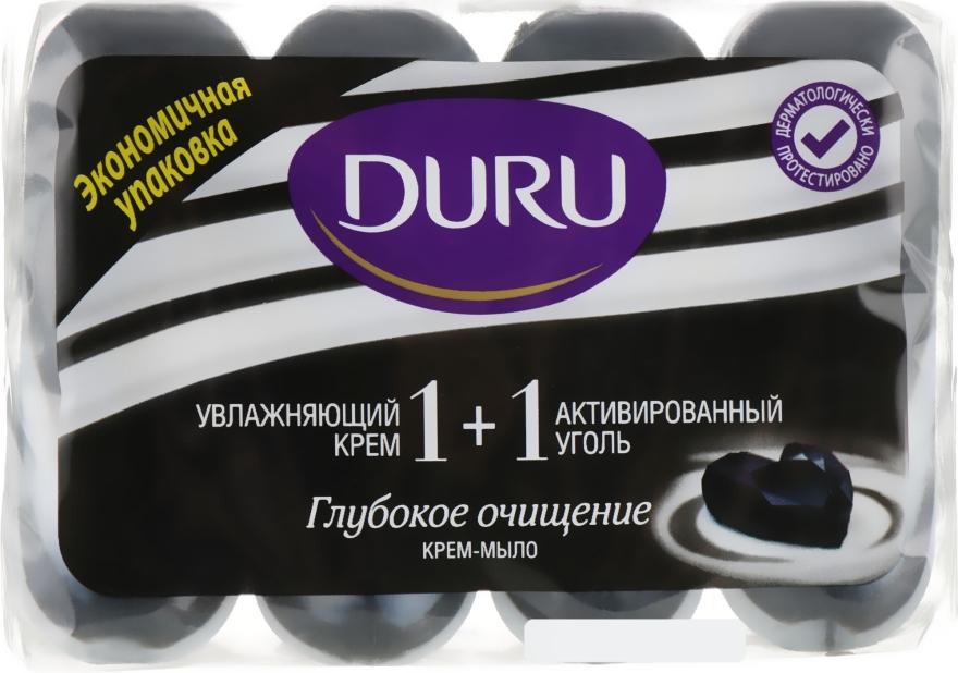 """Крем-мыло с активированным углем """"Глубокое Очищение"""" (эко-пак) - Duru 1+1 Soft Sensations"""