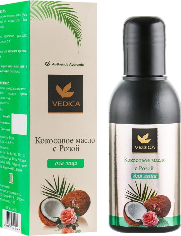 Масло кокосовое с розой для лица - Veda Vedica
