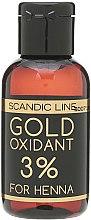 Духи, Парфюмерия, косметика Окислительная эмульсия для бровей и ресниц - Profis Gold Oxidant For Henna 3%