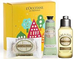 Духи, Парфюмерия, косметика Набор - L'Occitane Almond (sh/oil/75ml + soap/50g + h/cr/30ml)