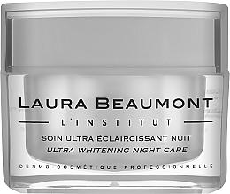 Духи, Парфюмерия, косметика Ночной крем интенсивного осветления - Laura Beaumont Ultra Whitening Night Care