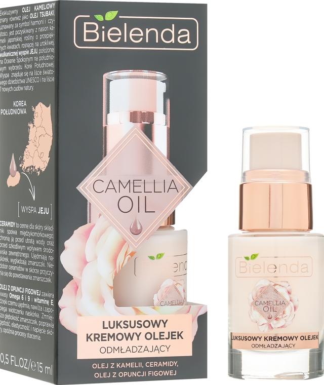Омолаживающий крем-масло для лица - Bielenda Camellia Oil Luxurious Rejuvenating Oil in Cream