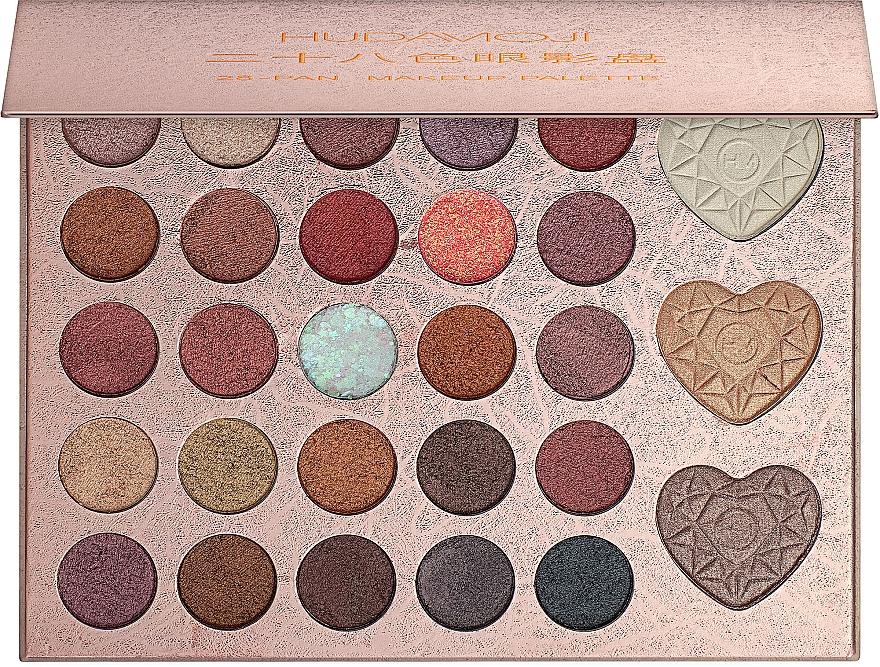 Палетка для макияжа - Hudamoji 28-Pan Makeup Palette