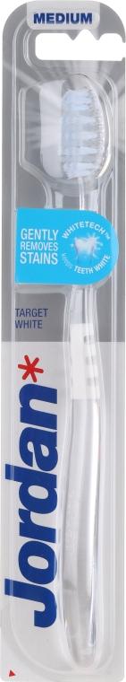 Зубная щетка средней жесткости, прозрачно-белая - Jordan Target White