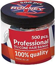 Духи, Парфюмерия, косметика Резинки силиконовые, черные - Ronney Professional Silicone Hair Bands