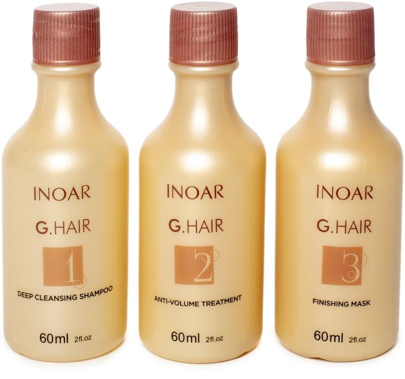 Набор для кератинового выпрямления волос - Inoar G-Hair Premium Hair Keratin (shmp/60ml + keratin/60ml + mask/60ml)