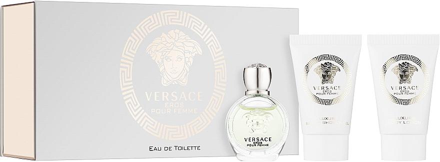 Versace Eros Pour Femme - Набор (edt 5ml + b/lot 25ml + sh/gel/25ml)