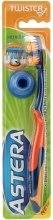 Духи, Парфюмерия, косметика Зубная щетка средней жесткости, оранжевая - Astera Twister Toothbrush (Medium)