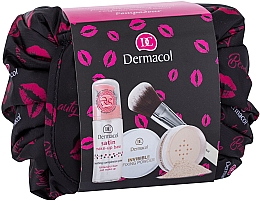 Духи, Парфюмерия, косметика Набор - Dermacol Satin Makeup (makeup/base/30ml + powder/13.5g + brush/1pcs + bag)