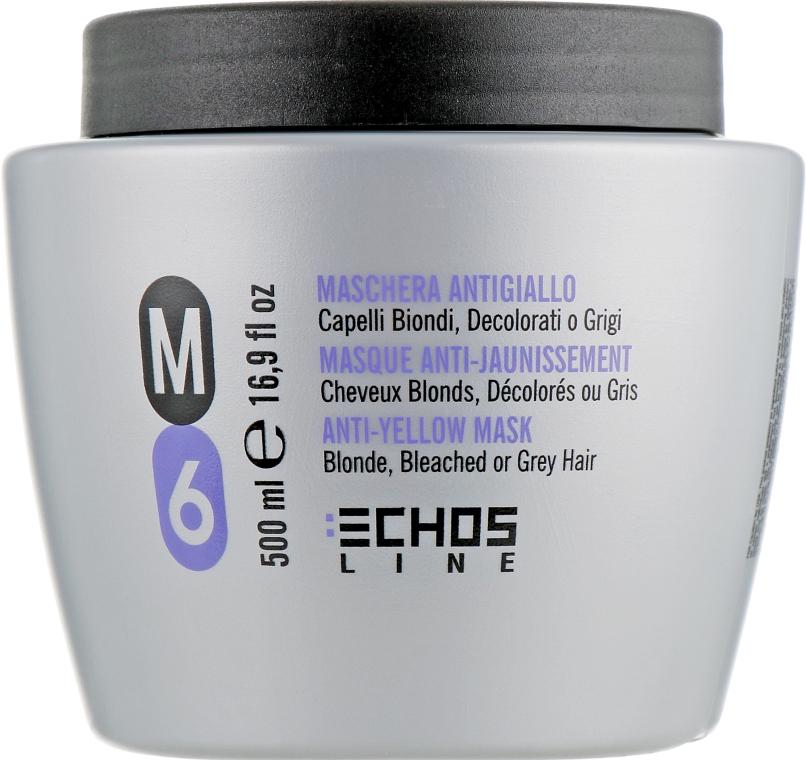 Маска для светлых и седых волос с антижелтым эффектом - Echosline M6 Anti-Yellow Mask