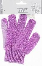 Духи, Парфюмерия, косметика Мочалка-перчатка банная, фиолетовая - Beauty Line