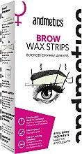 Духи, Парфюмерия, косметика Набор для коррекции бровей - Andmetics Brow Wax Strips Women (strips/4x2pc + strips/4x2pc + wipes/4pc)