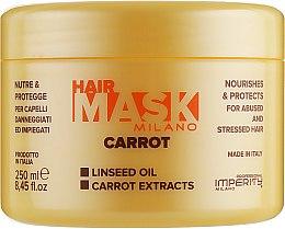 Духи, Парфюмерия, косметика Маска для ослабленных волос - Imperity Milano Carrot Hair Mask