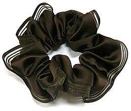 Духи, Парфюмерия, косметика Резинка для волос P26958-4, d-11 см, коричневая - Akcent