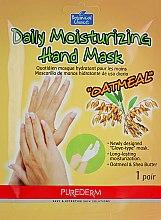 Духи, Парфюмерия, косметика Маска-перчатки для рук - Purederm Daily Moisturizing Hand Mask Oatmel