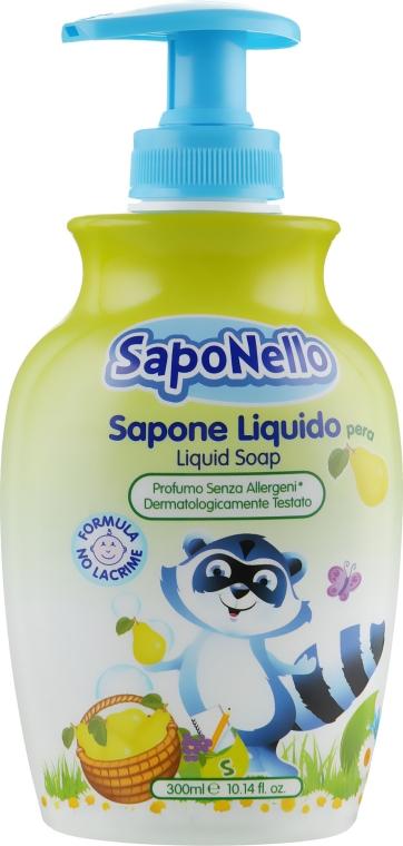 """Жидкое мыло для детей """"Груша"""" - SapoNello Liquid Soap Pera"""