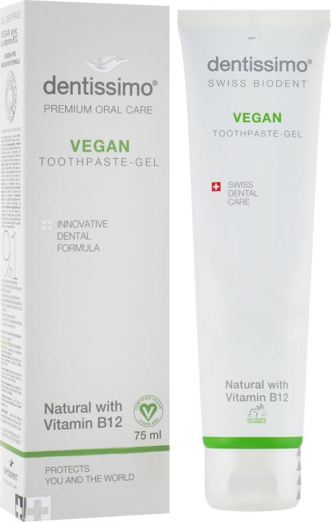 """Зубна паста-гель """"Веган"""" с витамином B12 - Dentissimo Vegan with Vitamin B12"""