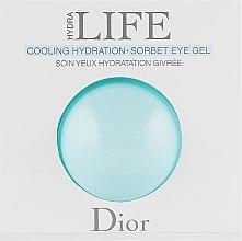 Духи, Парфюмерия, косметика Гель-сорбет для контура глаз - Christian Dior Hydra Life Cooling Hydration Sorbet Eye Gel (пробник)