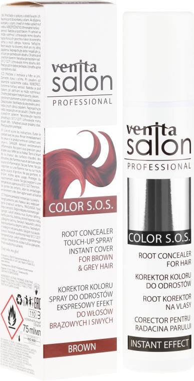 Тонирующий спрей для волос - Venita Salon Professional Root Concealer for Hair Instant Effect Brown