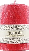 Духи, Парфюмерия, косметика Декоративная пальмовая свеча, красная - Plamis
