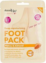 Духи, Парфюмерия, косметика Восстанавливающая маска-носочки для ног - Derma V10 Peel Foot Pack Honey & Almond Socks