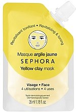 """Духи, Парфюмерия, косметика Маска для лица """"Желтая глина: Восстановление и тонус кожи"""" - Sephora Yellow Clay Face Mask"""