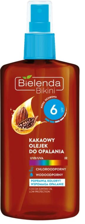 Масло для загара с какао - Bielenda Bikini Cocoa Suntan Oil Low Protection SPF6