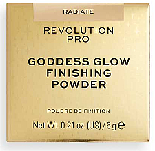 Духи, Парфюмерия, косметика Рассыпчатая пудра - Revolution Pro Goddess Glow Finishing Powder
