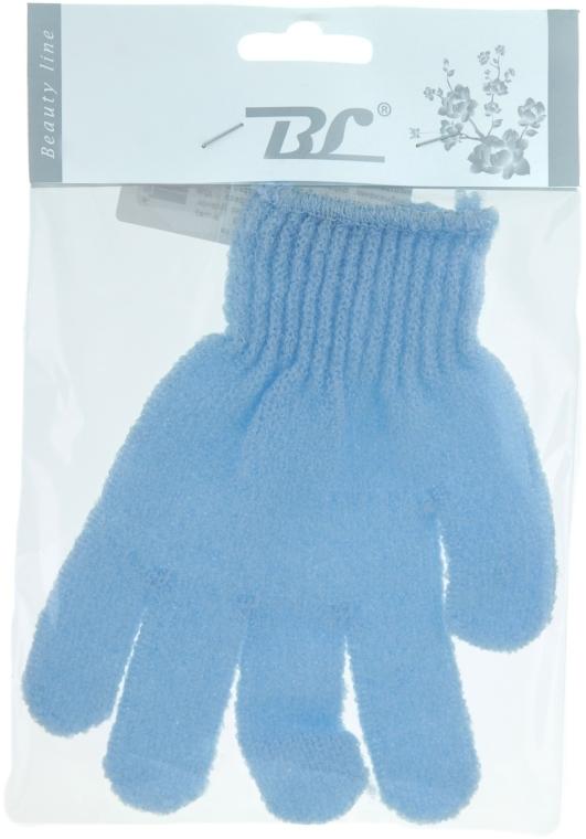 Мочалка-перчатка банная, голубая - Beauty Line