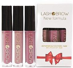 Духи, Парфюмерия, косметика Набор - Lash Brow Mini Lip Gloss Set Nude (lip/gloss/3x3ml)