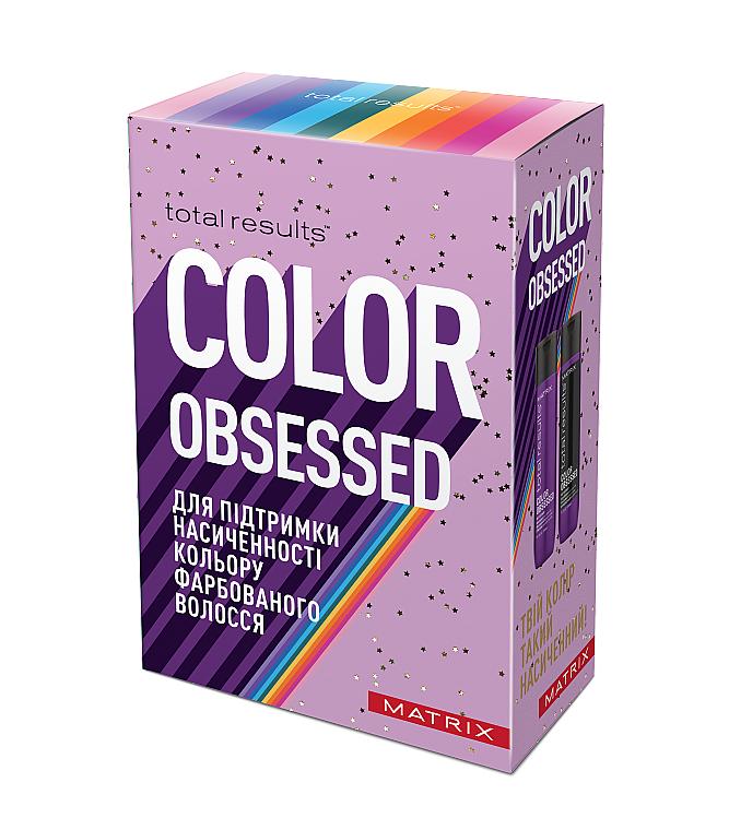Набор для поддержания насыщености цвета окрашенных волос - Matrix Total Results Color Obsessed (shmp/300ml + cond/300ml)