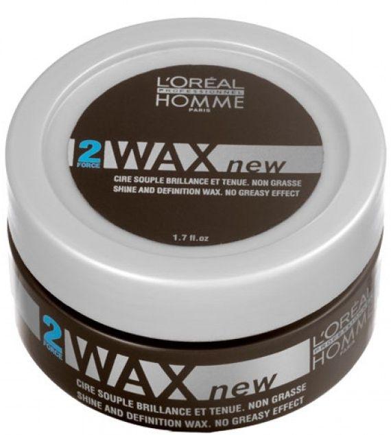 Воск для блеска и фиксации - L'Oreal Professionnel Homme Force 2 Wax