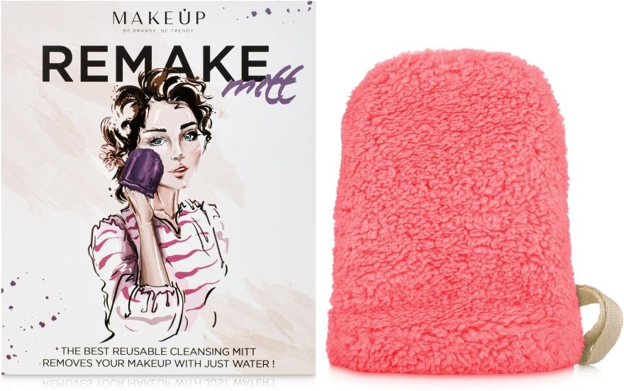 """Рукавичка для снятия макияжа, коралловая """"ReMake"""" - Makeup"""