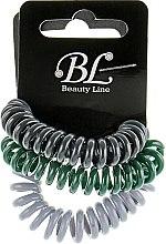 Духи, Парфюмерия, косметика Набор резинок для волос, 405004, темно-серая+зеленая+серая - Beauty Line