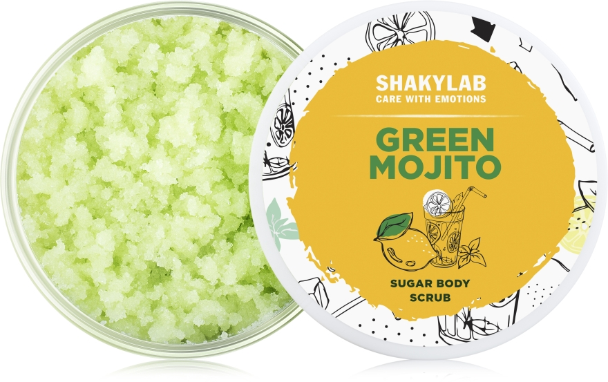 Сахарный скраб для тела «Green Mojito» - SHAKYLAB Sugar Natural Body Scrub